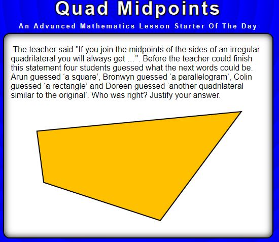 Quad Midpoints - Advanced Starter