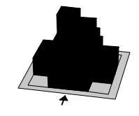 silhouette cube building