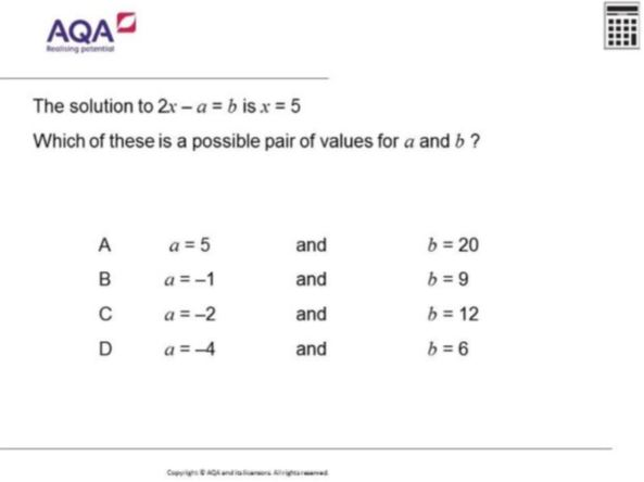 AQA Diagnostic Questions