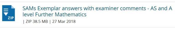 Edexcel SAMS Exemplar Answers