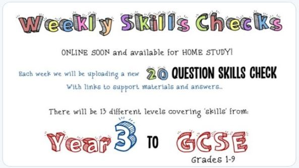 Maths Box Skills Checks
