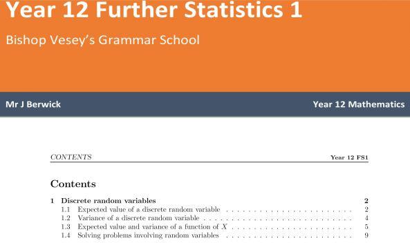 Berwick - Statistics Notes
